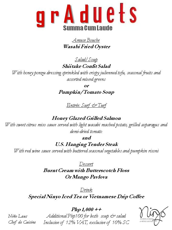 Graduation Dinner Menu Ideas mTzxi9HX